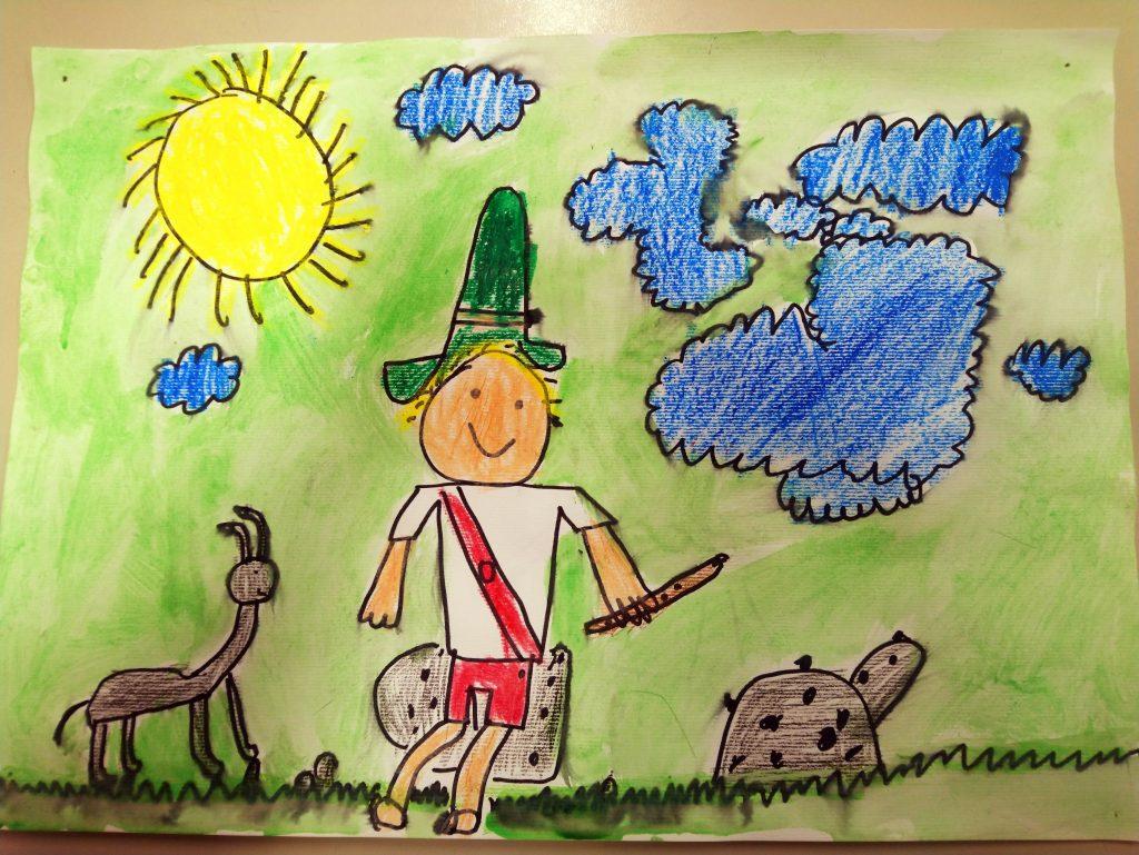 Nagrajene risbe učencev v Cici nabiralniku
